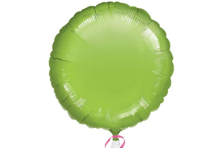 Anagram 18in Round Foil Balloon (Pack Of 10) (Lime Green) (18in)