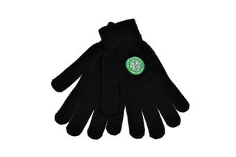 Celtic Core Knitted Gloves (Black) (One Size)