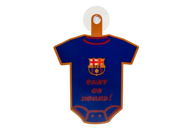 FC Barcelona Kit Baby On Board Sign (Blue) (One Size)