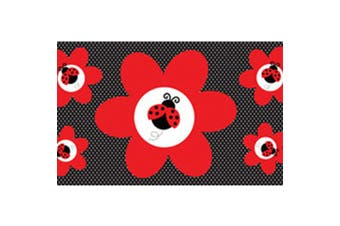Creative Converting Ladybug Fancy Giant Party Banner (Red/Black) (One Size)