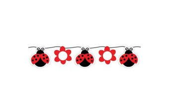 Creative Converting Ladybug Fancy Ribbon Circle Paper Banner (Red/Black) (One Size)