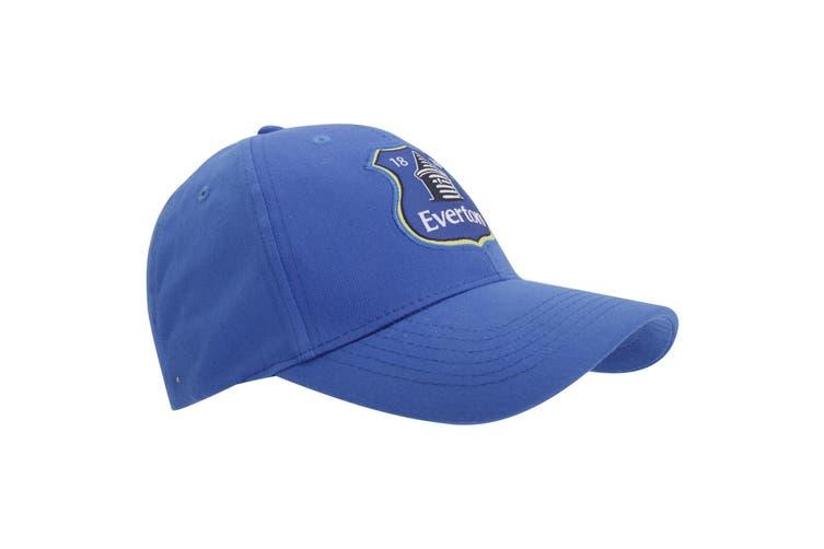 Everton FC Official Unisex Football Crest Baseball Cap (Royal Blue) (One Size)