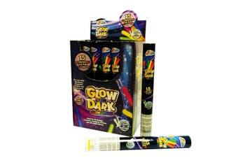 Grafix 15 Glow In The Dark Sticks Box (24 Tubes) (Multicoloured) (One Size)