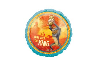 The Lion King 18 Inch Circle Foil Balloon (Orange/Blue) (One Size)