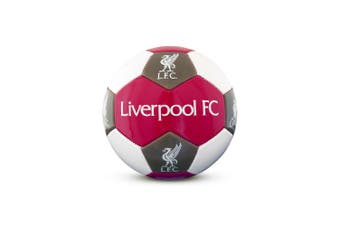 Liverpool FC Size 3 Football (Red/White/Grey) (One Size)
