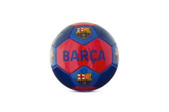FC Barcelona Barca Size 3 Football (Red/Blue) (One Size)