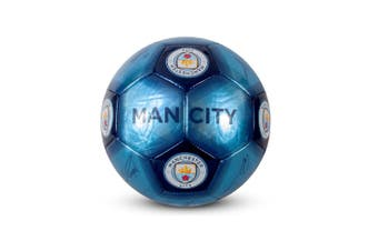 Manchester City FC Signature Football (Blue) (One Size)