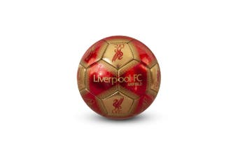 Liverpool FC Signature Mini Football (Red/Gold) (One Size)