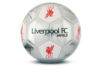 Liverpool FC Silver Signature Football - Size 5 (Silver) (One Size)