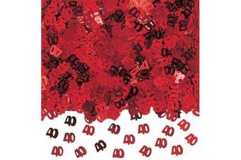 Amscan 40th Anniversary Confetti (Red) (14g)
