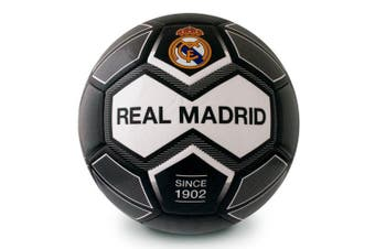 Real Madrid CF Crest 30 Panel Football (Black/White) (Size 5)