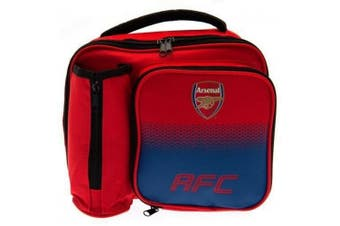 Arsenal FC Fade Lunch Bag with Bottle Holder (Red/Blue) (One Size)