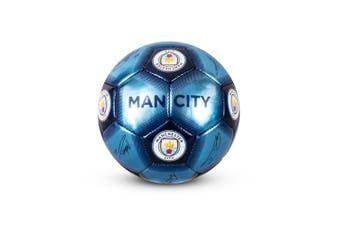 Manchester City FC Signature Football (Blue) (Size 1)