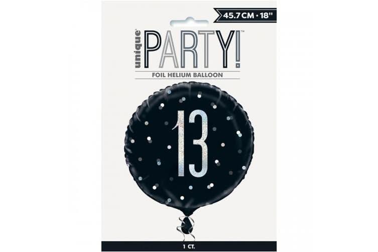 Unique Party Glitz Prismatic Age Foil Balloon (Black) (13)