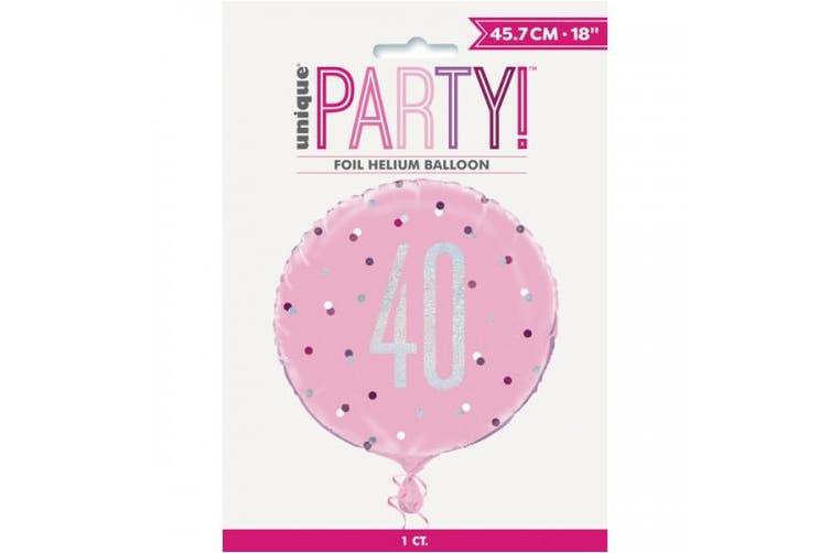 Unique Party Glitz Prismatic Age Foil Balloon (Pink) (16)