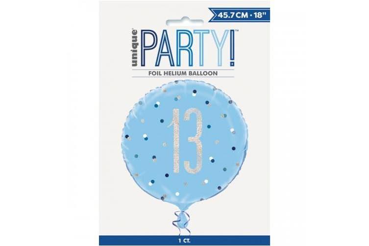 Unique Party Glitz Prismatic Age Foil Balloon (Blue) (16)