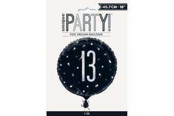 Unique Party Glitz Prismatic Age Foil Balloon (Black) (50)