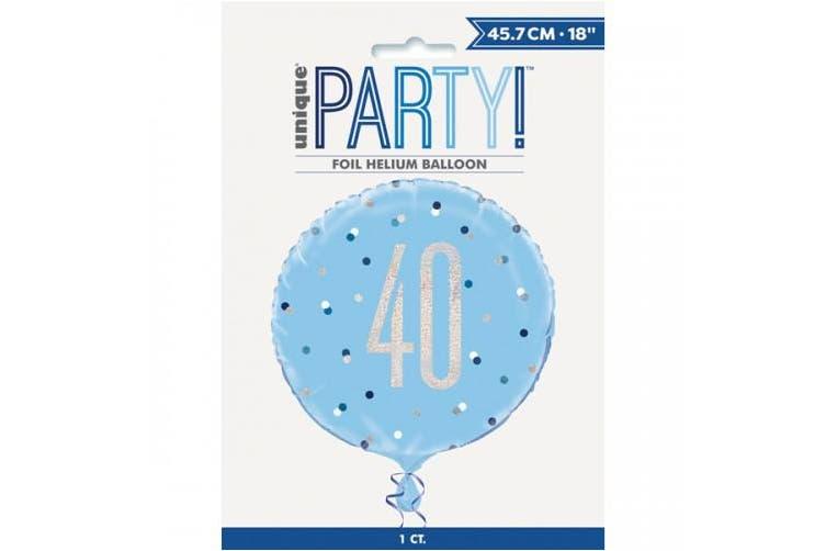 Unique Party Glitz Prismatic Age Foil Balloon (Blue) (13)