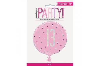 Unique Party Glitz Prismatic Age Foil Balloon (Pink) (70)