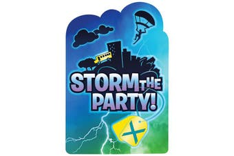 Battle Royal Storm The Party Postcard Invitations (Pack Of 8) (Multicoloured) (One Size)