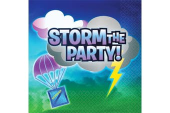Battle Royal Storm The Party Napkins (Pack Of 16) (Multicoloured) (One Size)