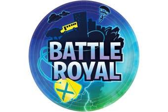 Battle Royal Paper Plates (Pack Of 8) (Multicoloured) (23cm)