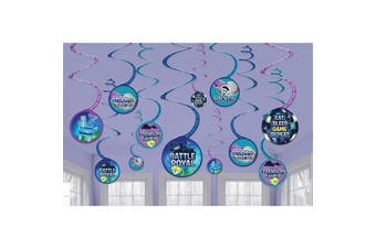 Battle Royal Storm The Party Hanging Swirls (Pack Of 12) (Multicoloured) (One Size)