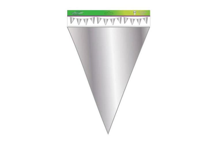 Oaktree Metallic Solid Colour Bunting (Silver) (One Size)