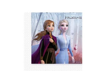 Frozen 2 Disposable Napkins (Pack of 20) (Blue) (One Size)