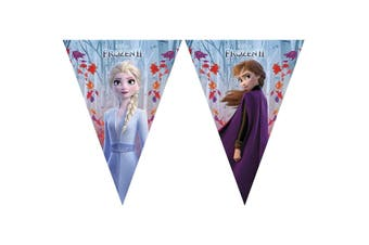 Frozen 2 Triangle Flags Banner (Blue) (One Size)