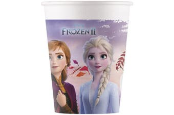 Frozen 2 Disposable Paper Cups (Pack of 8) (Blue) (One Size)