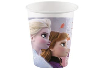 Disney Frozen 2 Disposable Party Cups (Pack of 8) (Purple) (One Size)