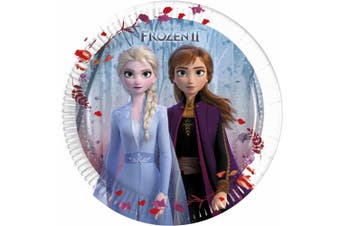 Frozen 2 Disposable Plates (Pack of 8) (White/Blue) (M)