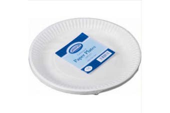 Essential Biodegradable Paper Plates (Pack Of 15) (White) (23cm)