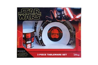 Star Wars Episode IX Tableware Set (Black/Red/White) (One Size)