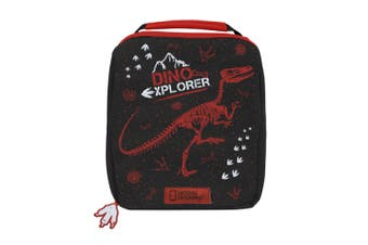 National Geographic Dino Lunch Bag (Black/Red) (One Size)