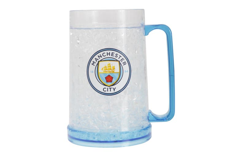 Manchester City FC Official Football Crest Freezer Mug (Clear/Blue) (One Size)