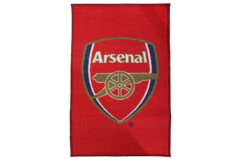 Arsenal FC Official Printed Football Crest Rug/Floor Mat (Red) (One Size)
