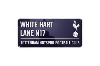 Tottenham Hotspur FC Official White Hart Lane Football Crest Street Sign (Navy/White) (One Size)