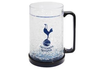 Tottenham Hotspur FC Official Football Crest Freezer Mug (Clear/Black) (One Size)