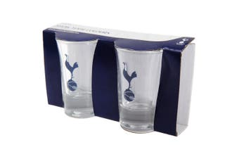 Tottenham Hotspur FC Official Football Crest Shot Glass (Pack Of 2) (Clear) (One Size)
