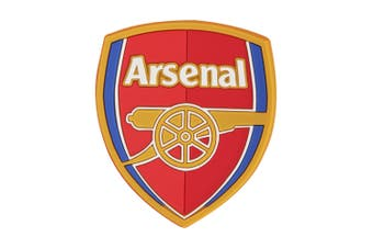 Arsenal FC Official Football Crest Rubber Fridge Magnet (Red/Gold/Navy) (One Size)