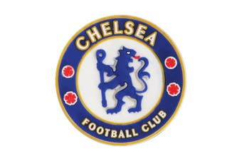 Chelsea FC Official Football Crest Rubber Fridge Magnet (Blue/White/Yellow) (One Size)