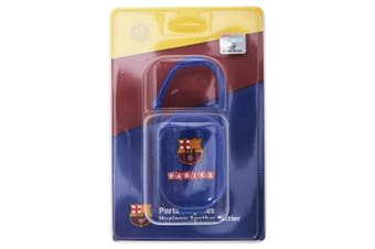 FC Barcelona Official Football Crest Baby Dummy/Soother Case/Box (Blue) (One Size)