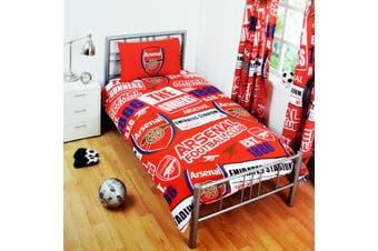 Arsenal FC Childrens/Kids Official Patch Football Crest Duvet Set (Red) - UTSG3548