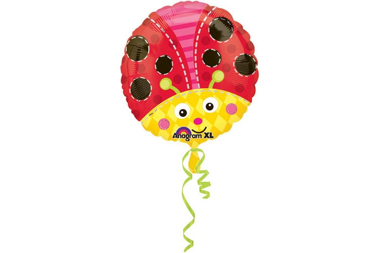 Amscan 18 Inch Ladybird/Bee Circular Foil Balloon (Red/Yellow) (One Size)
