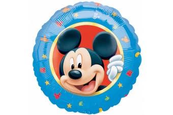 Amscan 18 Inch Disney Mickey Mouse Circular Foil Balloon (Blue) (One Size)