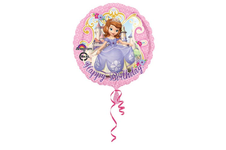 Amscan 18 Inch Disney Sofia The First Happy Birthday Circular Foil Balloon (Pink) (One Size)