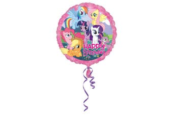 Amscan 18 Inch My Little Pony Circular Foil Balloon (Multicoloured) (One Size)