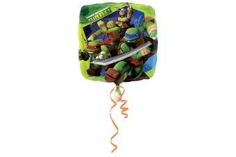 Amscan 18 Inch Teenage Mutant Ninja Turtles Square Foil Balloon (Green) (One Size)